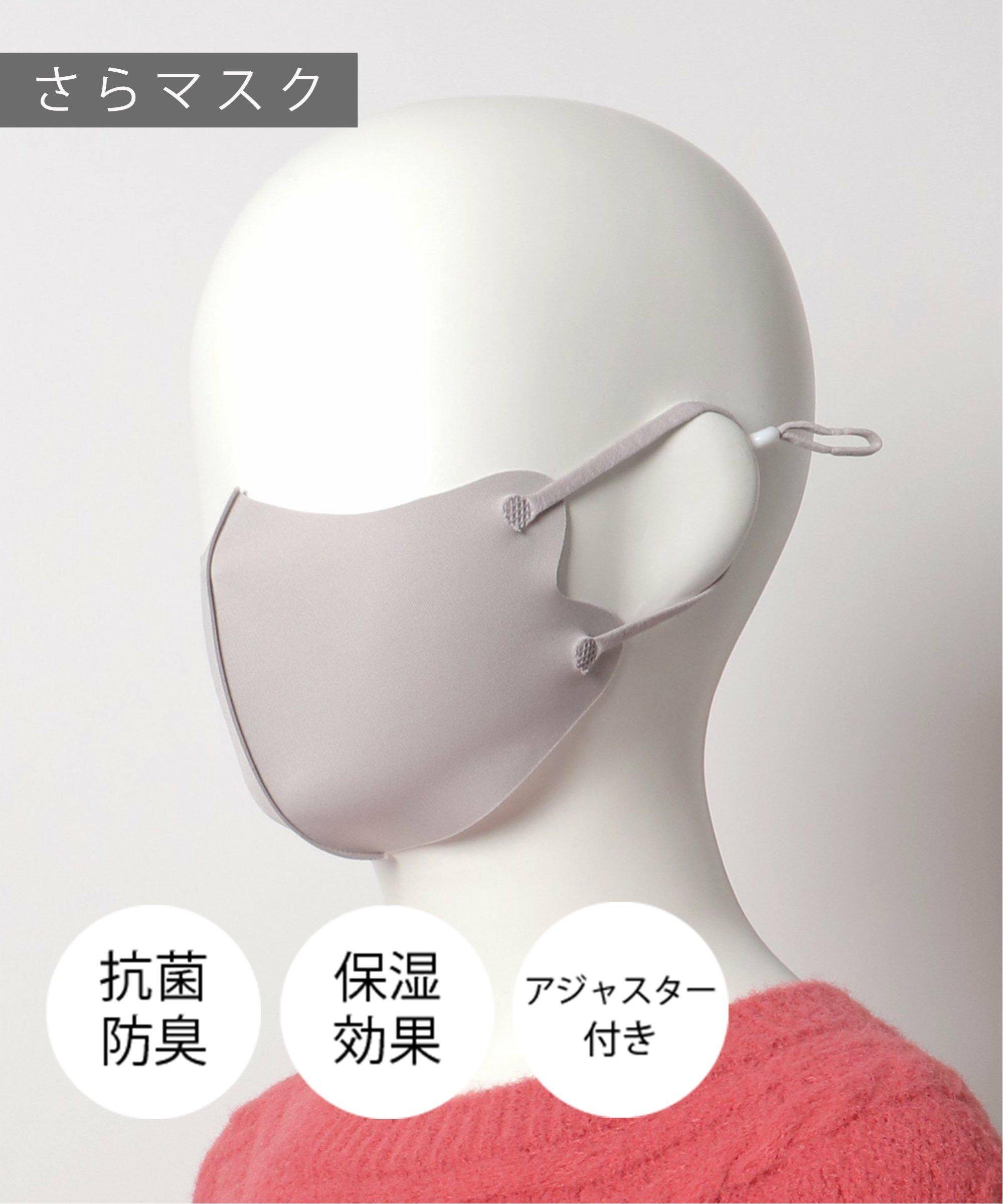 【こども用】 調節ひも付き さらマスク  ミディアムグレー