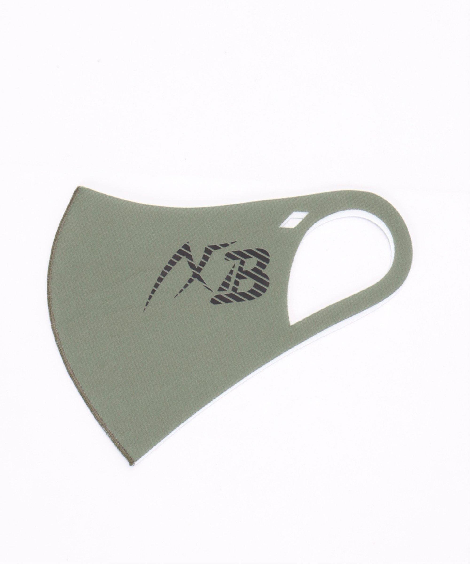 【おとな用】AXF マスク ムジ ビッXBロゴ ダークグリーン